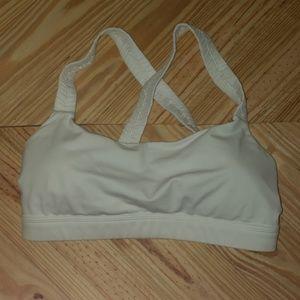 Lululemon criss cross Sports bra white size 8